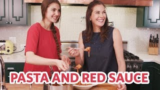 """Video How To Make Pasta & Red Sauce -- Don't Eat """"It"""" Out Of A Box MP3, 3GP, MP4, WEBM, AVI, FLV Februari 2019"""