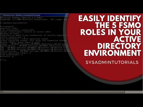 how to discover fsmo roles