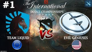 БИТВА ТОПов групы! | Liquid vs EG #1 (BO2) | The International 2018
