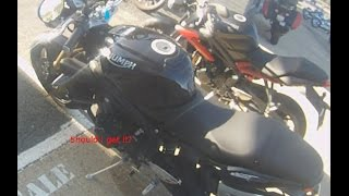 9. 2009 Triumph Street Triple test ride
