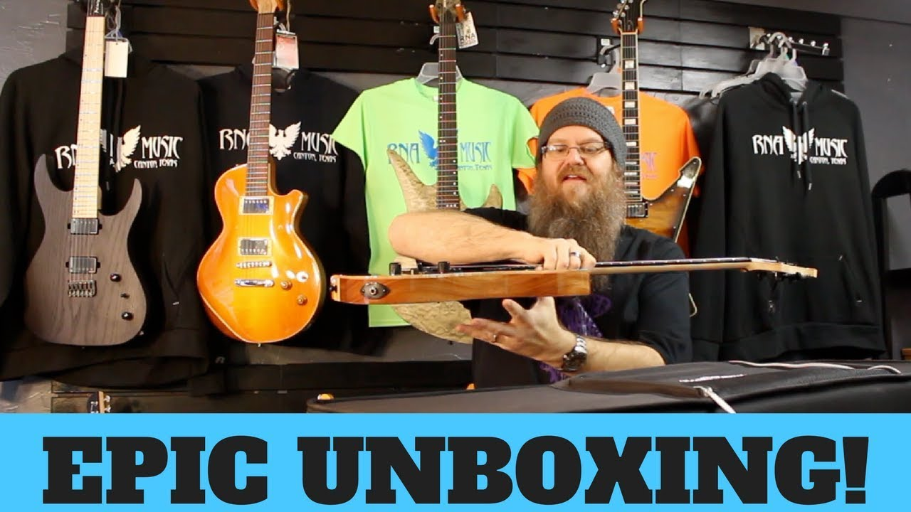 USA CUSTOM GUITAR UNBOXING! Acacia Hades