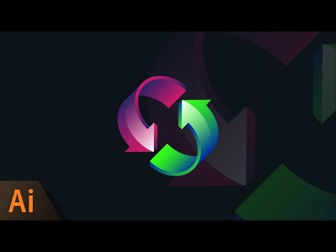Illustrator Beginner Tutorial: Circular Arrows Logo