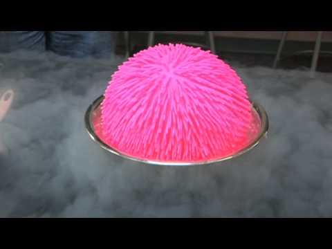 軟軟的球竟然被液態氮摧毀掉!