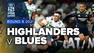 Highlanders v Blues Rd.8 2021 Super rugby Aotearoa video highlights