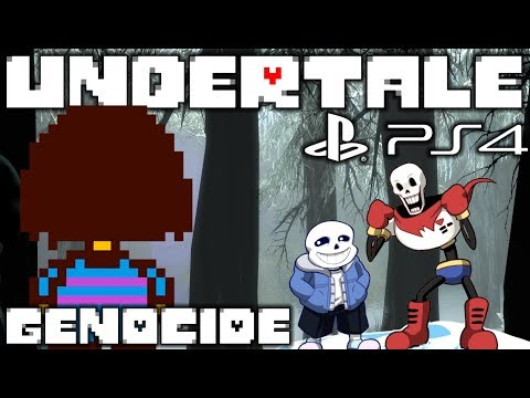 MEETING THE GREAT PAPYRUS & SANS | PLAYSTATION 4 EDITION | Undertale: Genocide [2]