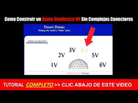 ►►Como Construir un DOMO Geodesico - TUTORIAL ( PARTE I ) Como Construir un DOMO Geodesico