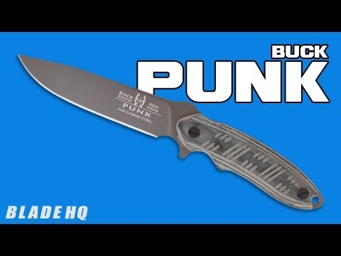 "Buck/Hood Punk Knife Fixed Blade (5.625"" Black Plain) 0065BKSBH-B"