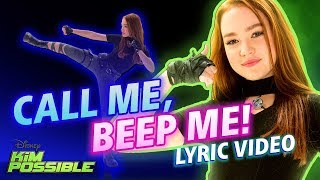 Call Me, Beep Me! Lyric Video | Kim Possible | Disney Channel Original Movie
