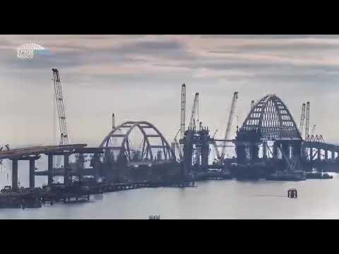 Крымский мост таймлапс строительствса