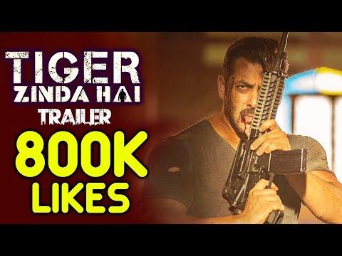 Salman's Tiger Zinda Hai Unbreakable Record - 800K Likes On Trailer