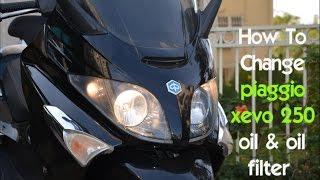 4. How To Change piaggio xevo 250 oil & oil filter
