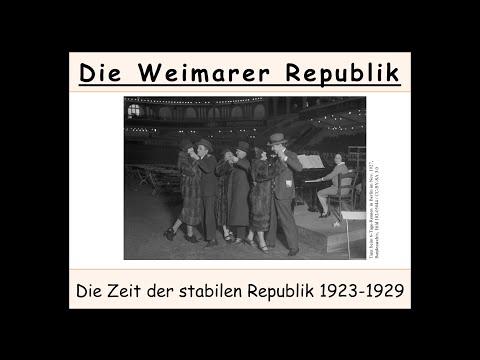 Weimarer Republik: Die stabilen Jahre 1923-1929 (Rapa ...