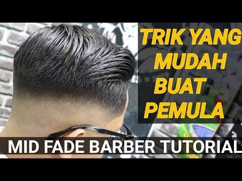 Trik cara pangkas rambut yang benar & tepat buat pemula||MID FADE HAIR CUT TUTORIAL.