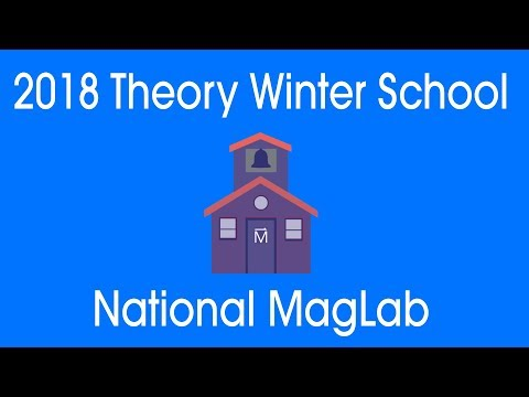 MagLab Theory Winter School 2018: Steven Girvin - Entanglement Entropy