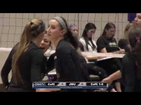 2015 #CAAChamps Volleyball Semifinals -- #5 College of Charleston 3, #1 James Madison 2