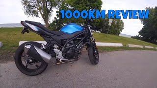 10. 2017 SV650 1000KM REVIEW