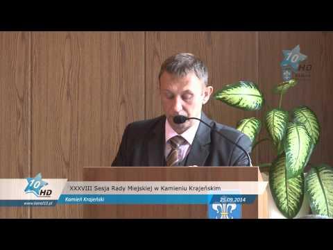XXXVIII Sesja Rady Miejskiej w Kamieniu Krajeńskim, 25.09.2014 r.