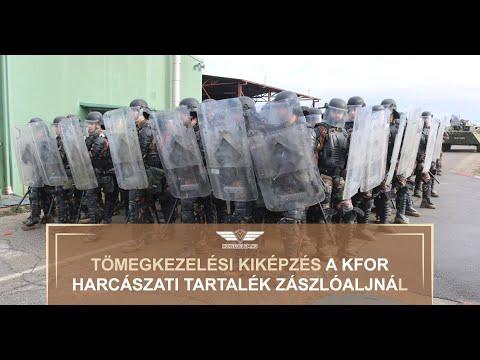 Tömegkezelési kiképzés a KFOR Harcászati Tartalék Zászlóaljnál