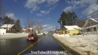Conway (NH) United States  city photo : Driving Through North Conway, N.H. In Winter