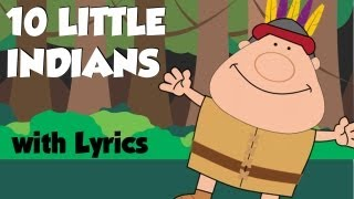 Ten Little Indians, Nursery Rhymes with lyrics