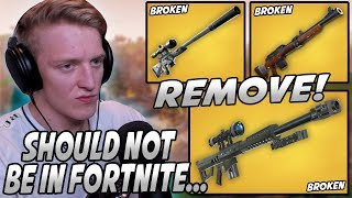 Tfue Explains Why Fortnite Should NOT Have SNIPERS & Why They Should Be VAULTED!