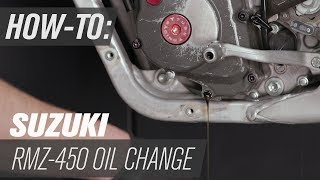 2. How To Change The Oil On A Suzuki RM-Z450
