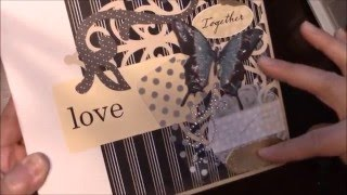 Mini album made from the My Design mini album tutorial from Kathy King at Paper Phenomenon.