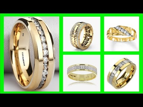 TOP 45 Mens Gold Wedding Rings Ideas | Gold Ring Design With Diamonds | Mens Fashion Rings