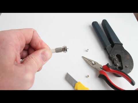 Как правильно установить, обжать F-разъём на кабель RG 6