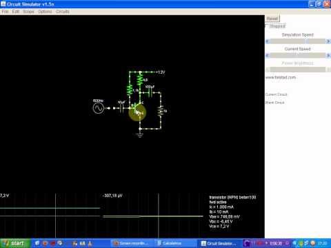 Amplificatore ad Emettitore Comune, senza circuito di prevenzione termica
