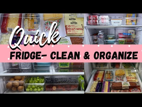 QUICK FRIDGE CLEAN AND ORGANIZE/ BUSY BECKY