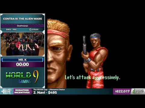 Contra III: The Alien Wars by Mr. K in 6:54 - Awesome Games Done Quick 2017 - Part 147 (видео)