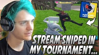 Ninja Gets ANNOYED After Having To SPECTATE A Team That STREAM SNIPED Him At His OWN Tournament...