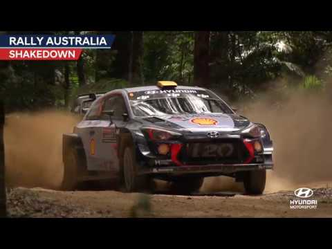 Rally Australia Shakedown - Hyundai Motorsport 2017