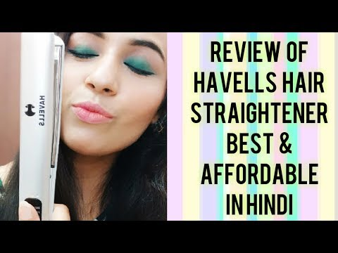 Review & demo of Havells 4151 hair straightener I Best and Affordable | in HINDI