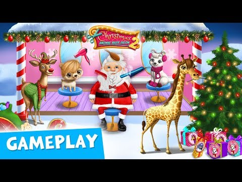 Winter Wonderland Makeovers! Christmas Animal Hair Salon 2 Gameplay  TutoTOONS Cartoons & Kid Games