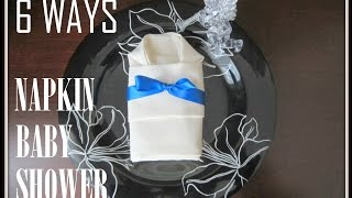 We offer a wide variety of napkin folding styles that are both fun and easy to do. It is easy and creative decoration for baby shower.