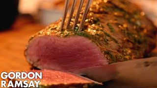 Rare Fillet of Beef with Salsa Verde & Truffled New Potatoes   Gordon Ramsay's Ultimate Home Cooking by Gordon Ramsay