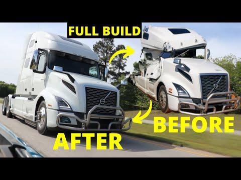 Rebuilding Wrecked a Volvo Semi Truck In 10 Mins