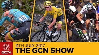 Dan & Matt bring this week's show to you from France with the latest events in cycling and the drama from the Tour de France, and what drama there has been.Subscribe to GCN: http://gcn.eu/SubscribeToGCNGet exclusive GCN gear in the GCN shop! http://gcn.eu/hgLet us know what you think of the opening week of the 2017 Tour de France in the comments below 👇Can you beat Dan's caption? Leave your attempt below 👇Plenty of action from around the globe in the world of cycling including Mark Beaumont's record attempt, tax for cyclists, Firstly, Peter Sagan was disqualified after the race jury decided that he'd put 'colleagues in danger' through his riding in the sprint on stage 4, where he came into contact with Mark Cavendish.how close was the stage 7 finish?!  You might have thought that Kittel would have it all his own way with the absence of 2 key rivals, but look how close this finish was with Edvald Boasson Hagen - somehow they managed to separate the two of them, Kittel being given the win by 0.0003s.Fabio Aru won on La Planche des Belles Filles, Calmejane a tough stage 8, but where do we even start with stage 9Firstly there were lots of early abandons, notably Geraint Thomas who sustained a broken collarbone.  Then, on the final ascent, the Mont du Chat, Aru seemingly attacked just after Froome raised his arm to signal a mechanical.That, though, was fairly quickly forgotten on the following descent, where Richie Porte had a horrific crash, in turn bringing down Dan Martin.  Thankfully, Dan was able to remount and finish the stage, but it was the end for Porte, who was taken to hospital - another big blow for the fansMeanwhile, up front, we had a sprint amongst climbers, which is always entertaining, even more so given that Rigoberto Uran only had the use of two gears.  Incredibly, though, that was all he needed, in what seemed like a slow motion sprint, he powered the 53x11 to the line and pretty much defined the term Wattage BazookaWe have got an incredible competiti