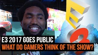 For the freest time in years the public have been let onto the E3 show floor. Here's what attendees had to say about the experience and if it was worth the ticket price.For more from GamesRadar Subscribe: http://goo.gl/cnjsn1http://www.gamesradar.comhttp://www.facebook.com/gamesradarhttp://www.twitter.com/gamesradarhttp://www.twitch.tv/gamesradar