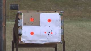 after having bad luck with my first 45 reloads i revised them and now how some that work.  here are some diffrent angles of my shooting for the day.misc brasswinchester large pistol primers5 grains red dot powderlee TL-452-230 cast from wheel weights and water quenchedOAL is max to function properly in fnp mags.