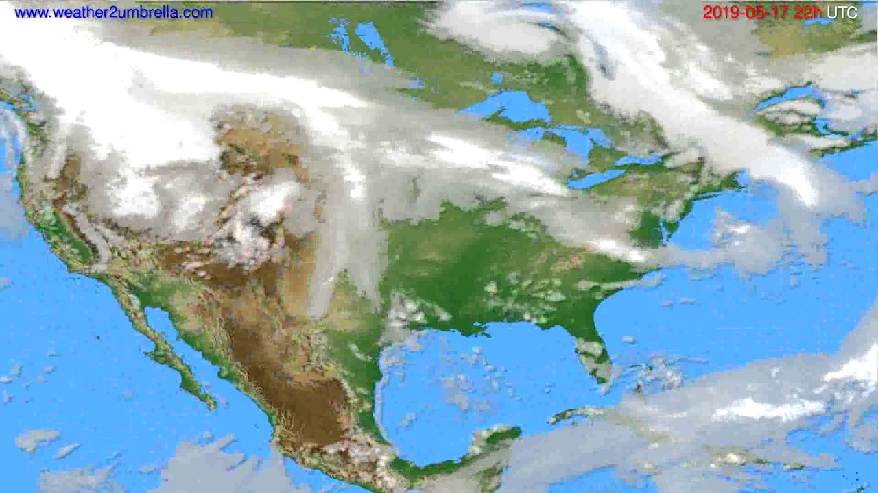 Cloud forecast USA & Canada // modelrun: 00h UTC 2019-05-15