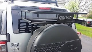 Great rack for above spare tire on FJ Cruiser! Garvin makes lots of great products!