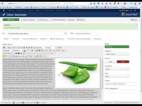 Joomla 3 szövegszerkesztés, JCE editor, képkezelés