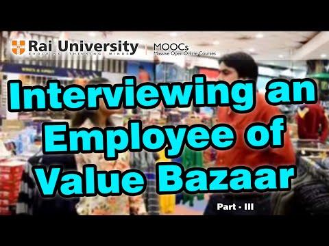 Interview with a Employee of Value Bazaar Part III Entrepreneurship