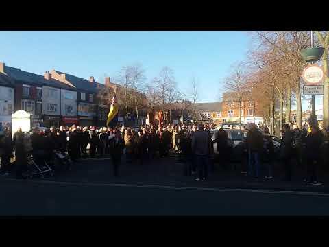 Poppy day march in Heanor Derbyshire 2017