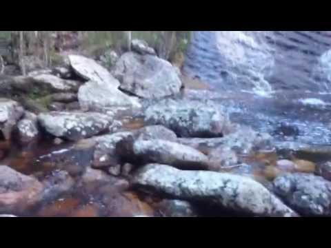 Cachoeira do Igarapé preto em Tepequem, amajarí Roraima Brasil.
