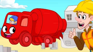 Video Cement Mixer Morphle Builds Houses! Construction  videos for kids MP3, 3GP, MP4, WEBM, AVI, FLV Oktober 2017