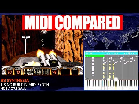 Duke3D theme: 7 MIDI software players vs real Roland JV-1010